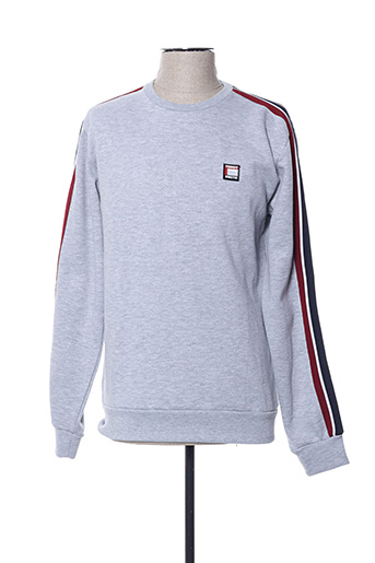 Sweat-shirt gris TEDDY SMITH pour homme