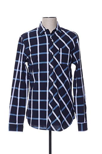 Chemise manches longues bleu DESIGUAL pour homme