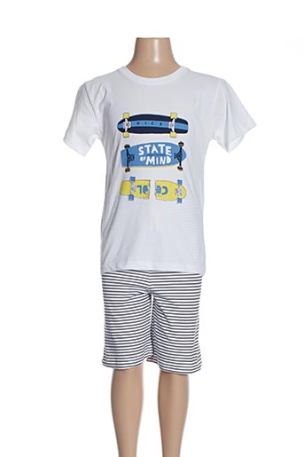 Pyjashort blanc ABSORBA pour garçon