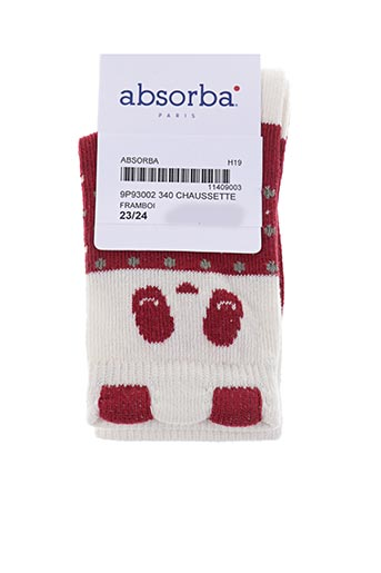 Chaussettes rouge ABSORBA pour fille