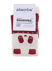 Chaussettes rouge ABSORBA pour fille seconde vue