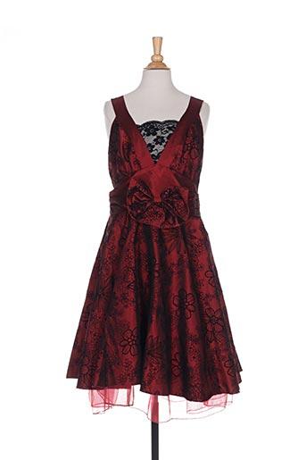 Robe mi-longue rouge BEST TIME pour femme