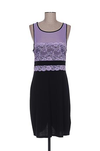 Robe mi-longue violet BON PRIX pour femme