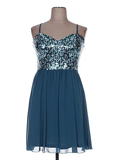 Robe mi-longue bleu BODY FLIRT pour femme