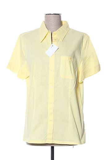 Chemisier manches courtes jaune CASUAL WEAR pour femme