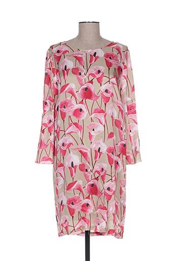 Robe mi-longue rose CRISTINA GAVIOLI pour femme
