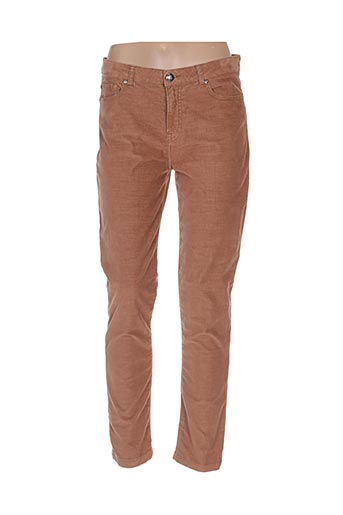 Pantalon casual marron MENSI COLLEZIONE pour femme