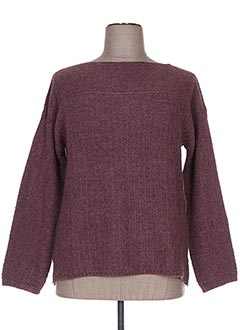 Pull col rond rose GUIDO LOMBARDI pour femme