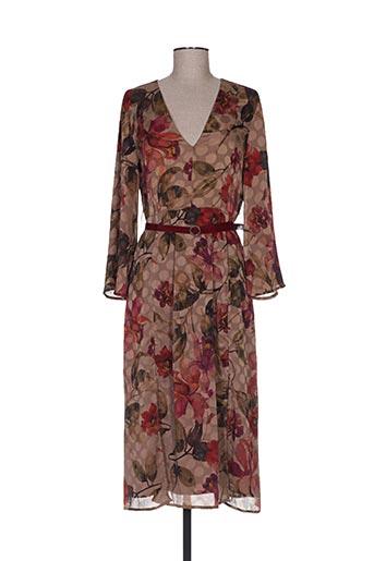 Robe longue marron DIXIE pour femme