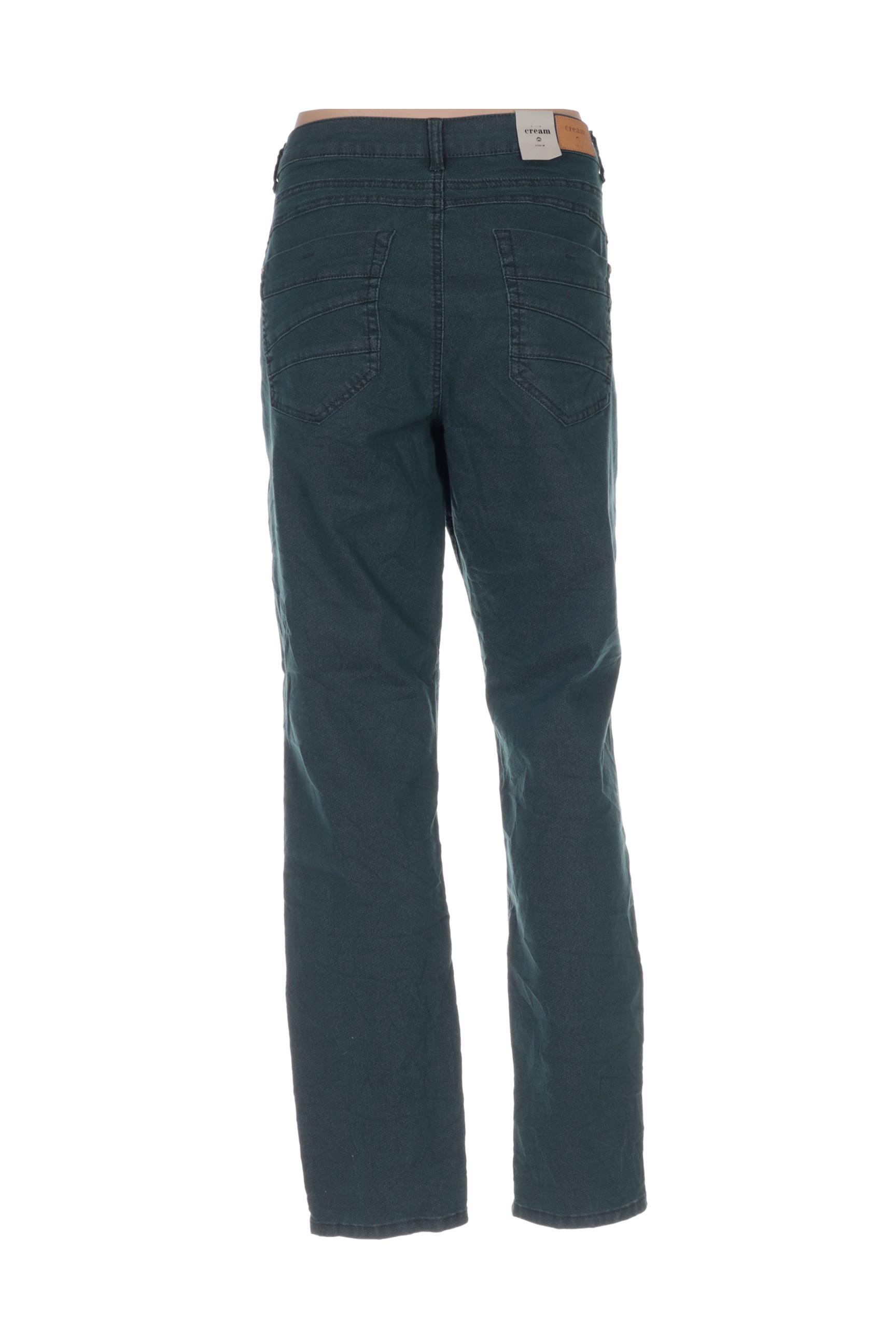 Cream Pantalons Decontractes Femme De Couleur Vert En Soldes Pas Cher 1434542-vert00