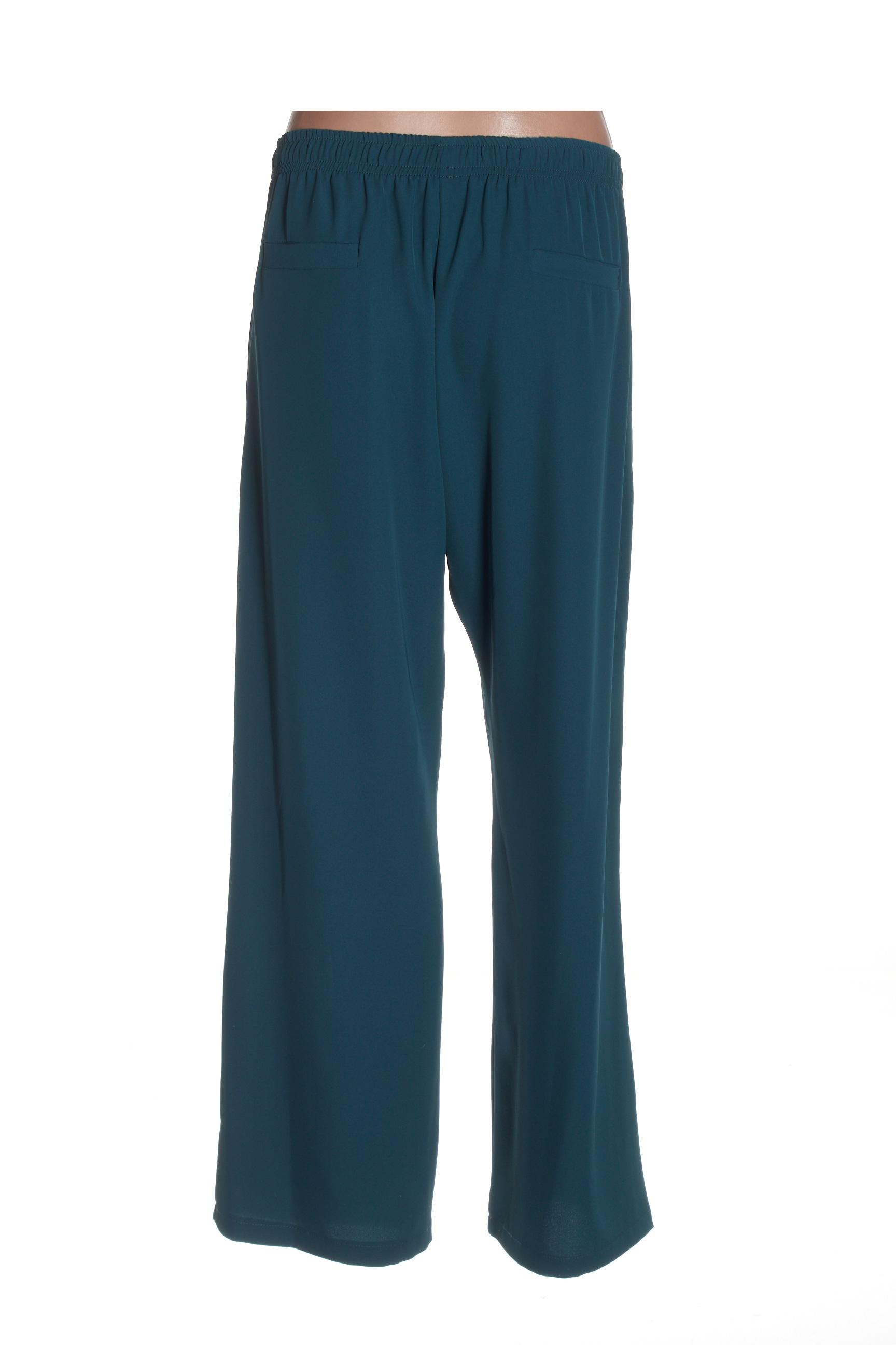 Imperial Pantalons Decontractes Femme De Couleur Vert En Soldes Pas Cher 1434050-vert00