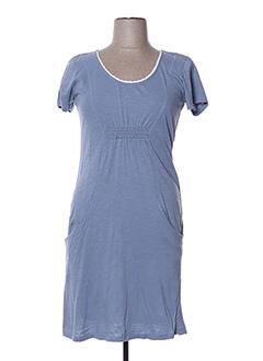 Robe mi-longue bleu GOUBI pour femme
