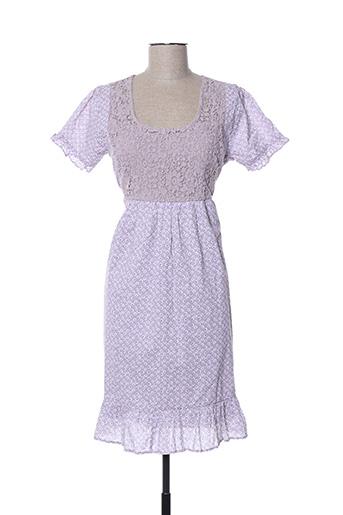 Robe mi-longue violet GOUBI pour femme
