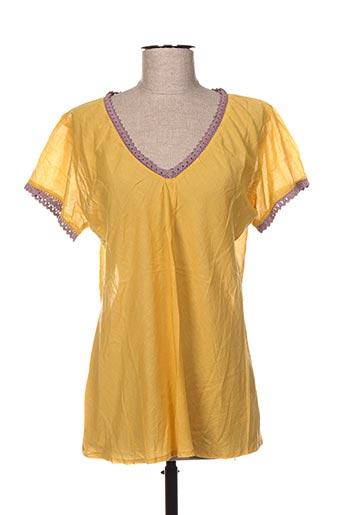 Blouse manches courtes jaune BAOBAB pour femme