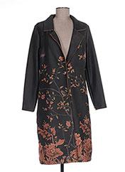 Manteau long vert QUATRE VINGT JOURS pour femme seconde vue