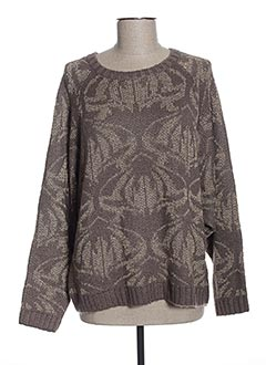 Pull col rond marron ONLY pour femme
