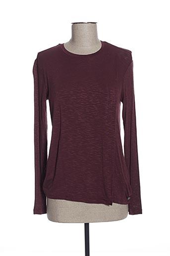 T-shirt manches longues rouge BENCH pour femme