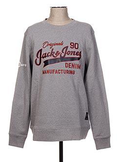 Sweat-shirt gris JACK & JONES pour homme