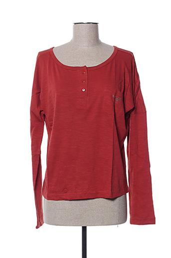 T-shirt manches longues orange EDEN ROCK pour femme