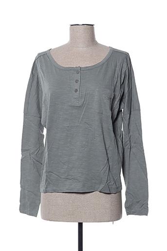 T-shirt manches longues vert EDEN ROCK pour femme
