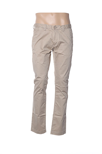 Pantalon casual beige TEDDY SMITH pour homme