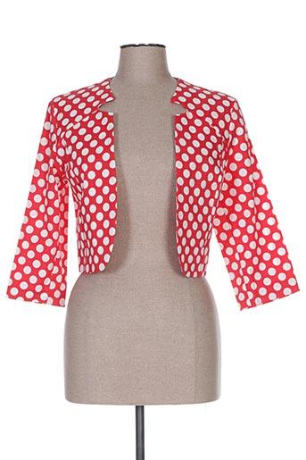 Veste chic / Blazer rouge POUSSIERE D'ETOLE pour femme