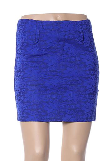 Jupe courte bleu ANABELLE pour femme