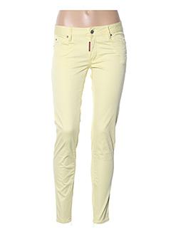 Pantalon casual jaune DSQUARED pour femme