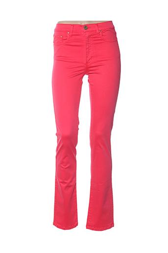 Pantalon casual rouge CRN-F3 pour femme