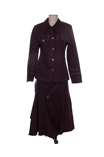Veste/jupe violet JEAN DELFIN pour femme