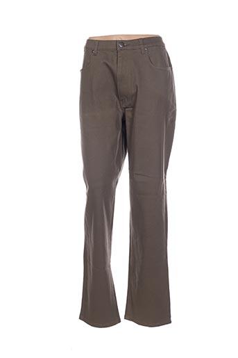 Pantalon casual vert CHRISTINE LAURE pour femme