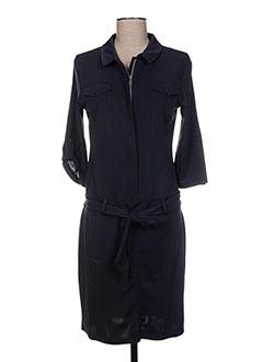 Robe mi-longue bleu HBT pour femme