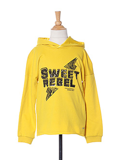 Sweat-shirt jaune ONLY pour fille