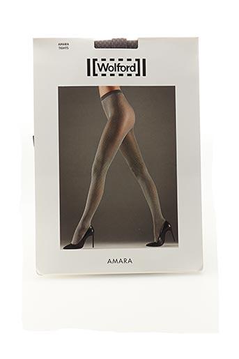 Collants gris WOLFORD pour femme
