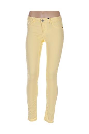 Pantalon casual jaune DESIRES pour femme