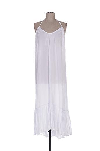 Robe longue blanc BAKKER pour femme
