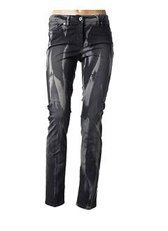 Jeans coupe slim gris AIRFIELD pour femme