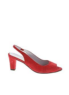 Sandales/Nu pieds rouge ALEXANDRIA pour femme