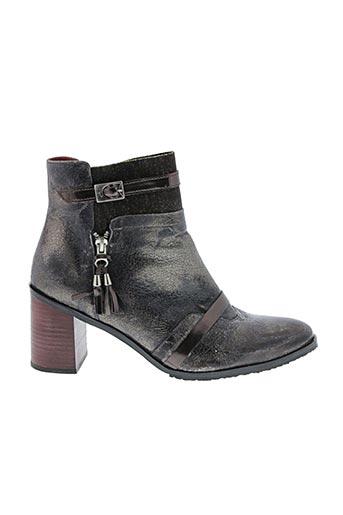 Bottines/Boots gris HORS LIMITE pour femme