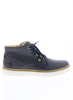 Bottines/Boots bleu ACHILE pour homme