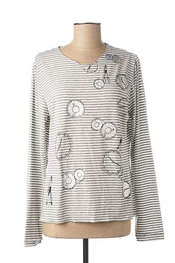 T-shirt manches longues gris POUSSIERE D'ETOLE pour femme