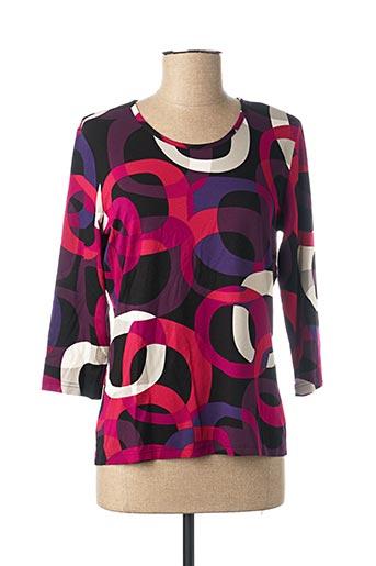T-shirt manches longues violet FRANK WALDER pour femme
