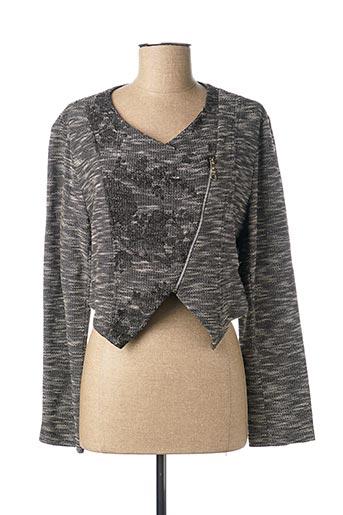 Veste casual gris DOUBLE JEU pour femme