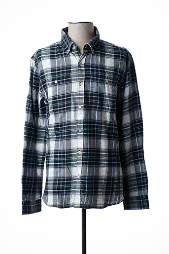 Chemise manches longues gris EDWIN pour homme