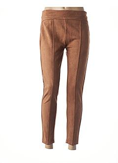 Pantalon 7/8 marron TIFFOSI pour femme