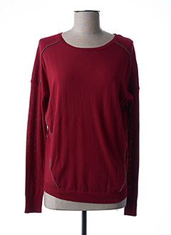 Pull col rond rouge IKKS pour femme