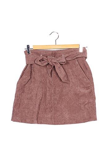 Mini-jupe marron BOOHOO pour femme
