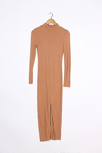 Robe pull marron PIMKIE pour femme