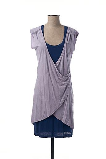 Robe mi-longue bleu BENCH pour femme