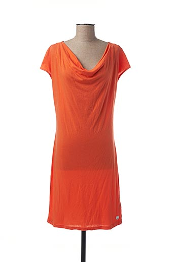 Robe mi-longue orange BENCH pour femme